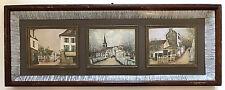 Maurice Utrillo Montmartre Paris 1950s Triptych 3 Shadow Box Framed Art Prints