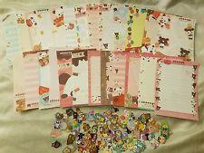 Kawaii San-X Chocopa Chocolate Panda Large Loose Memo Sheets 25pcs w/ Stickers!