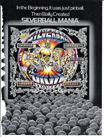 BALLY Silver Ball pinball flyer brochure pamphlet. Year 1980.