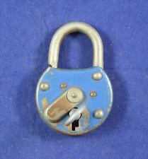 Vintage German steel Pad Lock + key original