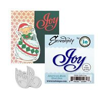 Joy Words Metal Die Cut Serendipity Impression Obsession Craft Cutting Dies