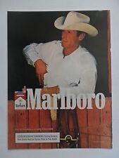 1988 Print Ad Marlboro Man Cigarettes Western Cowboy ~ Shirt Pocket Fence Break