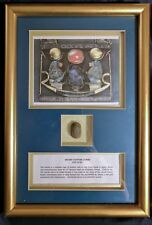 ANCIENT EGYPTIAN SCARAB AMULET Framed. From the Sadigh Gallery COA