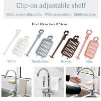 Sink Hanging Sponge Storage Rack Holder Kitchen Faucet Clip Dish Towel Dry Shelf