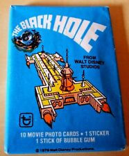 Topps 1979 The Black Hole Walt Disney wax pack of bubble gum trading cards