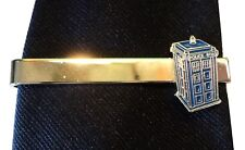 Doctor Who Tardis Time Machine Police Call Box Sci Fi Metal Enamel Tie Clip NEW