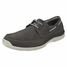 Mens Clarks Cloudsteppers Lace up Casual Shoes Marus Edge Grey UK 9.5 G