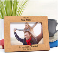 PERSONALISED Birthday The Best Dads Get Promoted to Grandad Photo Frame Gifts