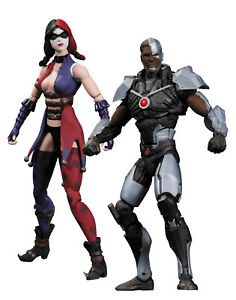 Batman Injustice Gods Among Us Harley Quinn & Cyborg Action Figure 2-Pack - New