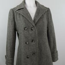 Vintage Mar-Del by Rice Ilgwu Womens Pure Wool Trench Pea Coat Gray