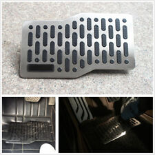 Car SUV Floor Mats Stainless Steel Heel Plate Pedal Carpet Foot Rest Mat 27X14CM