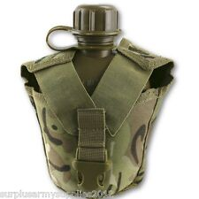 US ARMY STYLE WATER BOTTLE & WEBBING POUCH KIDS CAMPING WATER CANTEEN CADET