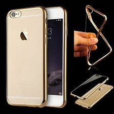 Slim Lightweight Flexible Gold Clear Soft TPU Silicone Case Cover For iPhone 8