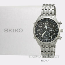Authentic Seiko Men's Prospex Radio Sync Solar Stainless Steel Watch SSG017