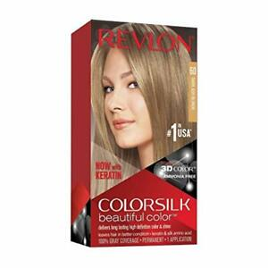 Revlon Colorsilk Beautiful Color, Permanent Hair Dye with Keratin, 100% Gray ...