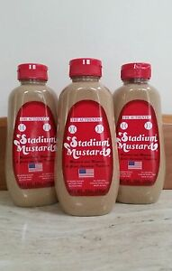 "STADIUM MUSTARD.....""THE AUTHENTIC""......3 BOTTLES.....FAST SHIPPING !!!!!"