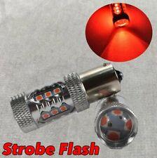 Strobe Rear Signal 1156 BA15S 3497 1141 7506 P21W 80w LED Red Bulb W1 Euro E