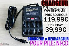 1 CHARGEUR VANSON INTELLIGENT 4 PILES NI-CD AA AAA • CHARGE TRES RAPIDE