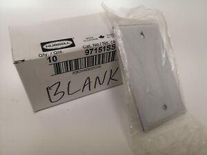 Hubbell blank Stainless Steel Cover Wall Plates (Lot of 12)