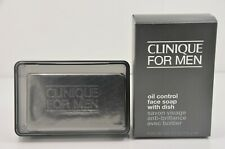 Clinique for Men Oil Control Face Soap with Dish 5.2oz 150g Full Size Oily Skin