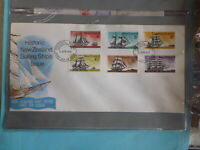 1975 NEW ZEALAND HISTORIC SAILING SHIPS SET 6 STAMPS FDC FIRST DAY COVER