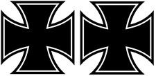 Iron Cross Aufkleber 2 Stück Eisernes Kreuz 10X10cm ! DECUT DECAL viele Farben