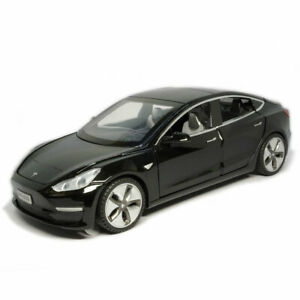 1/32 Tesla Model 3 Model Car Alloy Diecast Toy Vehicle Collection Gift Kid Black