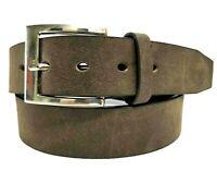 Echt Herren Damen Jeansgürtel Classic Gürtel Braun Belt 4 cm Breit NEU