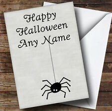 Spider Personalised Halloween Card