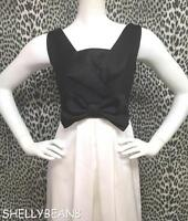 KAY UNGER Black Ivory Off White COCKTAIL BOW Front Dress XS 2 4 NWT $310 CLASSIC