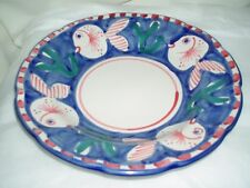 "VIETRI (Italy) Campagna-Fish Royal Blue (Pesce) Solimene 9"" SOUP/PASTA BOWL"