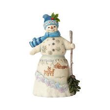 Heartwood Creek Snowman With Snowy Winter Scene Figurine by Jim Shore 6001476