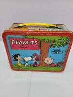 VERY RARE VINTAGE 1973 Peanuts Metal Lunch Box & Snoopy Charlie Brown No Thermos