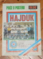 SN Yugoslavia 1981-1982 NK HAJDUK SPLIT team poster legendary A1 poster