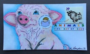 Favorite Kid's Books, Wilbur FDC, Kate Hayden cachet art