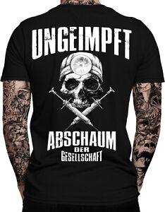 UNGEIMPFT Abschaum der Gesellschaft Herren T-Shirt | Impfgegner | Mensch 2. Kl..