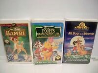 VHS (2) DISNEY AND (1) MGM TAPES SEALED