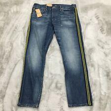 New Polo Ralph Lauren Varick Slim Straight Distressed Denim Jeans Mens 36 x 32