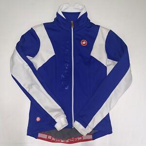 Castelli Windstopper Jacket Women Size Small Red White Blue Full Zip