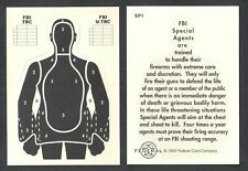 WANTED BY THE FBI (Federal Card Co./1993) RARE DIE-CUT SHOOTING TARGET CARD #SP1