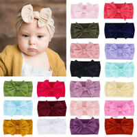 Fashion Baby Girl Headband Soft Newborn Nylon Bow Hair Band Accessory Headwear