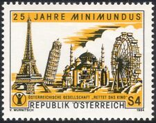 Austria 1984 Minimundus/Modelo mundo/Noria/Turismo/Torre Eiffel 1 V at1003a