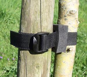 """5-pack of 45cm (18"""") Ladderloc Buckle Foam Spacer Tree Ties Black - Big Cushion"""