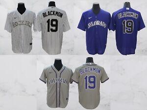 Colorado Rockies #19 Charlie Blackmon Cool Base Men's Stitched Jersey