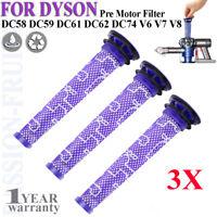 3x Pre Motor Filters for Dyson DC58,DC59,DC61,DC62,DC74,V6,V7,V8 # 965661-01 CC
