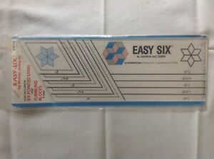 EZ QUILTING EASY SIX TUMBLING BLOCKS AND SIX POINTED STARS QUILTING RULER. NEW