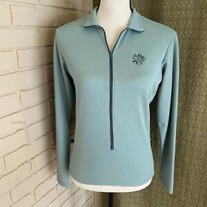 Cannondale Women Cycling Jersey Long Sleeve Zip Front Polartec Made In USA Small