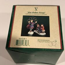 Department 56 - Five Golden Rings - 12 Days of Dickens' Village - Number - 58381