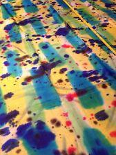 Farbrausch! Prächtiger Designer-Naturseiden Stoff / Taft 203 x 90 cm Batik Druck