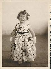 Photo Ancienne Enfants Fillette Jolie Robe - aa657